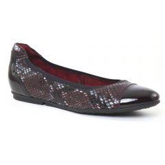 ballerines-confort python bordeaux: même style de chaussures en ligne pour femmes que les Scarlatine