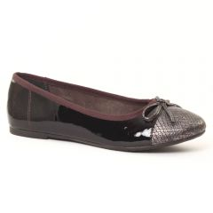 Chaussures femme hiver 2016 - ballerines tamaris noir bordeaux