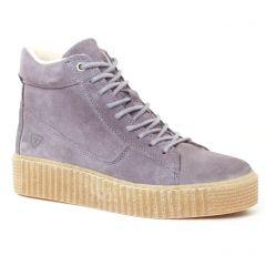 baskets-fourrees gris mauve: même style de chaussures en ligne pour femmes que les Tamaris