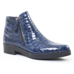 boots vernis bleu: même style de chaussures en ligne pour femmes que les Scarlatine