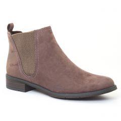Chaussures femme hiver 2016 - boots élastiquées marco tozzi beige taupe