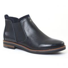 Chaussures femme hiver 2016 - boots élastiquées marco tozzi bleu marine