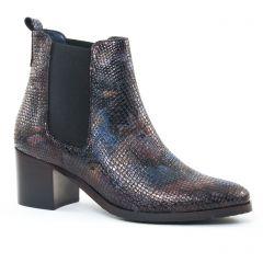 boots-chelsea bleu marron: même style de chaussures en ligne pour femmes que les Tamaris