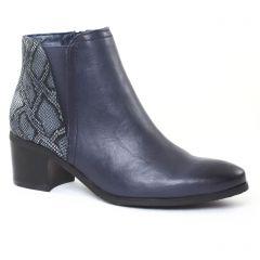 Chaussures femme hiver 2016 - boots élastiquées fugitive bleu python