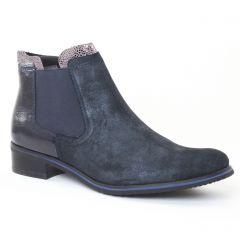 Chaussures femme hiver 2016 - boots élastiquées fugitive bleu vernis