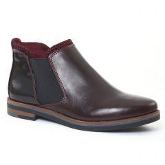 Chaussures femme hiver 2016 - boots élastiquées marco tozzi bordeaux