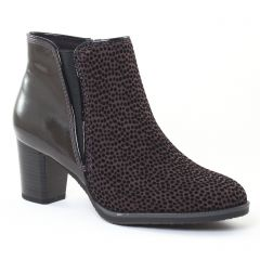 boots-chelsea gris noir: même style de chaussures en ligne pour femmes que les Rieker