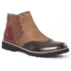 Chaussures femme hiver 2016 - boots élastiquées fugitive marron