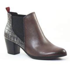 boots-chelsea marron gris: même style de chaussures en ligne pour femmes que les Tamaris