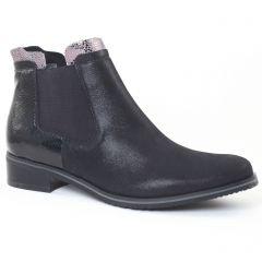 Chaussures femme hiver 2016 - boots élastiquées fugitive noir vernis