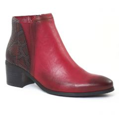 Chaussures femme hiver 2016 - boots élastiquées fugitive rouge python