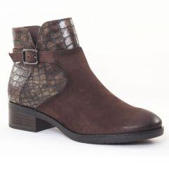 boots marron: même style de chaussures en ligne pour femmes que les Tamaris