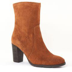 boots marron: même style de chaussures en ligne pour femmes que les Scarlatine