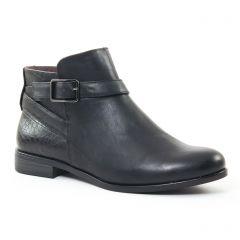 Chaussures femme hiver 2016 - low boots tamaris noir