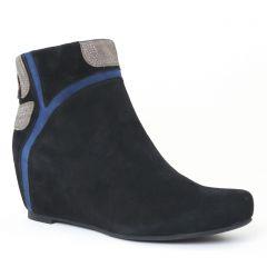 boots nubuck noir: même style de chaussures en ligne pour femmes que les Spm