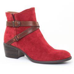Chaussures femme hiver 2016 - boots Jodhpur tamaris rouge