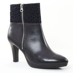Chaussures femme hiver 2016 - boots talon Caprice bleu marine