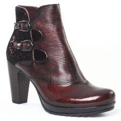 Chaussures femme hiver 2016 - boots talon Jose Saenz bordeaux