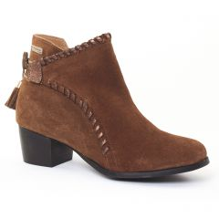 Les Tropéziennes Madrid Marron : chaussures dans la même tendance femme (boots-talon marron) et disponibles à la vente en ligne