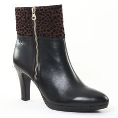 boots-talon noir marron: même style de chaussures en ligne pour femmes que les Tamaris