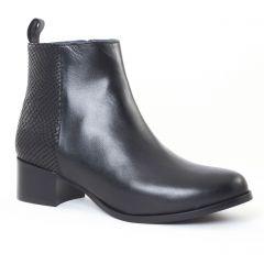 boots-talon noir serpent: même style de chaussures en ligne pour femmes que les Scarlatine
