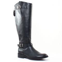 Chaussures femme hiver 2016 - bottes cavalières Impact noir