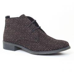 bottines-a-lacets gris léopard: même style de chaussures en ligne pour femmes que les Scarlatine