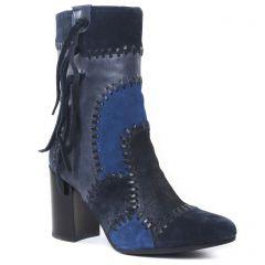 bottillons bleu: même style de chaussures en ligne pour femmes que les Jb Martin