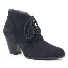 Chaussures femme hiver 2016 - bottines à lacets Impact bleu marine