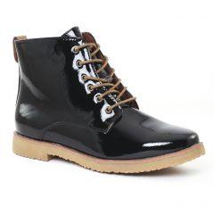 Chaussures femme hiver 2016 - bottines à lacets marco tozzi noir vernis