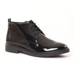 Chaussures femme hiver 2016 - bottines à lacets Scarlatine noir vernis