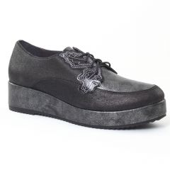 derbys-talons-compenses noir gris: même style de chaussures en ligne pour femmes que les Tamaris