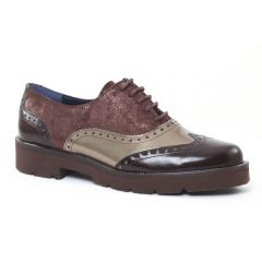 Chaussures femme hiver 2016 - derbys Dorking marron doré