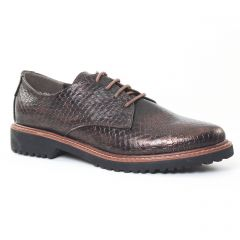 Chaussures femme hiver 2016 - derbys marco tozzi marron