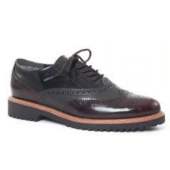 Chaussures femme hiver 2016 - derbys marco tozzi noir bordeaux