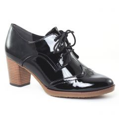 Chaussures femme hiver 2016 - derbys talon marco tozzi noir