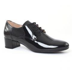 derbys-talon vernis noir: même style de chaussures en ligne pour femmes que les Tamaris