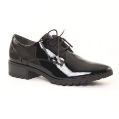 Chaussures femme hiver 2016 - derbys talon tamaris vernis noir