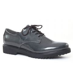 Chaussures femme hiver 2016 - derbys marco tozzi vernis gris