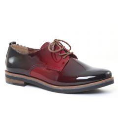 Chaussures femme hiver 2016 - derbys marco tozzi vernis rouge