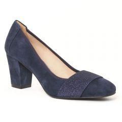 escarpins-talon-carre bleu marine: même style de chaussures en ligne pour femmes que les Tamaris