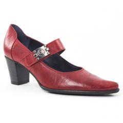 escarpins-trotteur rouge bordeaux: même style de chaussures en ligne pour femmes que les Tamaris