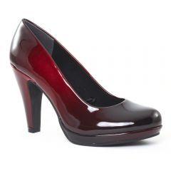 Chaussures femme hiver 2016 , escarpins marco tozzi vernis rouge
