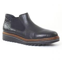 low-boots-confort noir léopard: même style de chaussures en ligne pour femmes que les Marco Tozzi