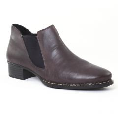 Chaussures femme hiver 2016 - low boots rieker gris