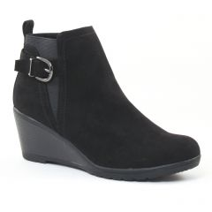 Chaussures femme hiver 2016 - low boots marco tozzi noir