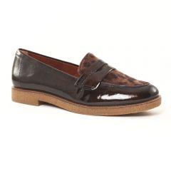 mocassins-confort marron léopard: même style de chaussures en ligne pour femmes que les Rieker