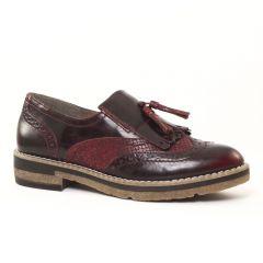 mocassins-confort noir bordeaux: même style de chaussures en ligne pour femmes que les Rieker