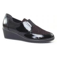 mocassins-confort noir léopard: même style de chaussures en ligne pour femmes que les Rieker