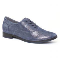 richelieus bleu métal: même style de chaussures en ligne pour femmes que les Tamaris